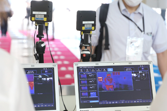 サーモグラフィカメラによる検温
